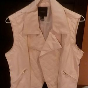 Forever21 PINK faux leather vest